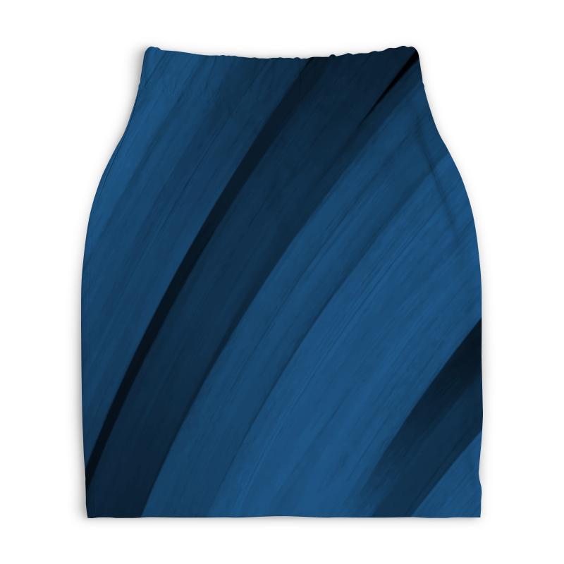 Юбка-карандаш укороченная Printio Синяя абстракция юбка карандаш укороченная printio синяя абстракция