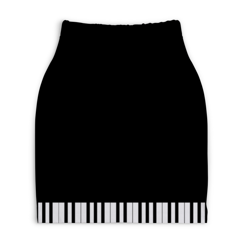 Юбка-карандаш укороченная Printio Пианино банкетку для пианино в новокузнецке