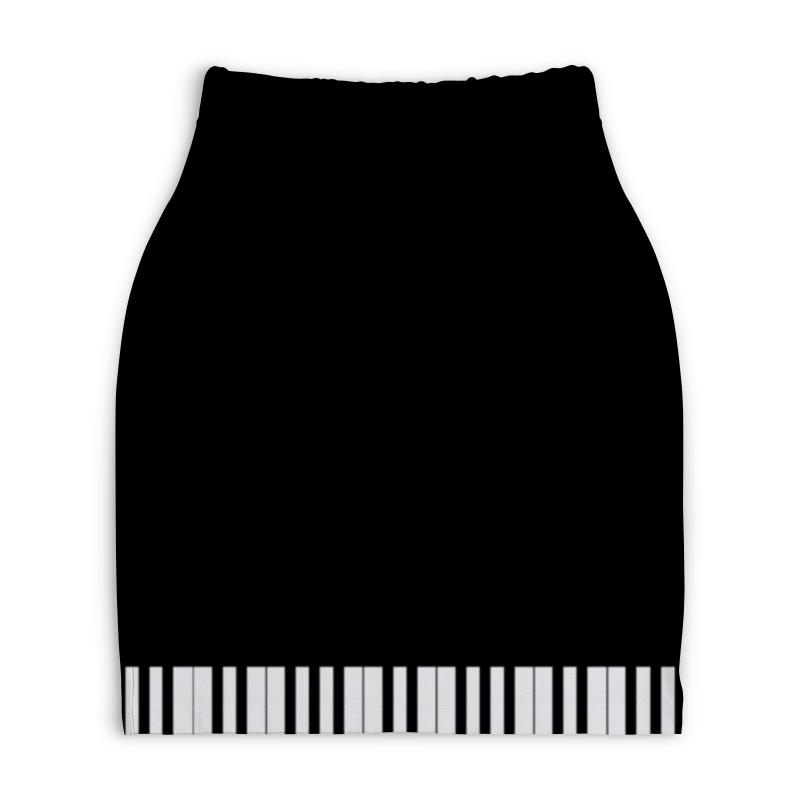 Юбка-карандаш укороченная Printio Пианино юбка карандаш укороченная printio белый горох