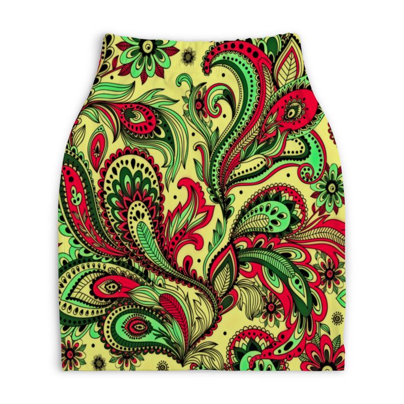 Юбка-карандаш укороченная Printio Узоры юбка карандаш printio райский сад
