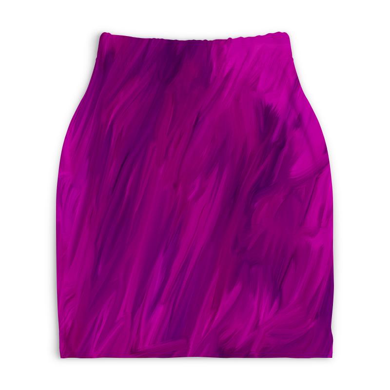 Юбка-карандаш укороченная Printio Фиолетовый юбка карандаш printio химия