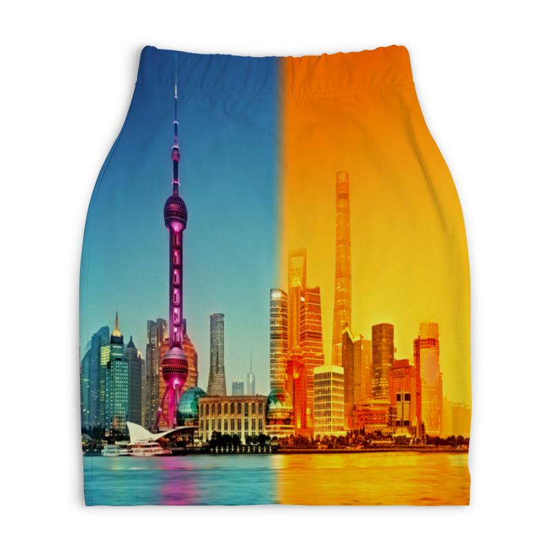 Юбка-карандаш укороченная Printio Город в красках юбка карандаш printio город