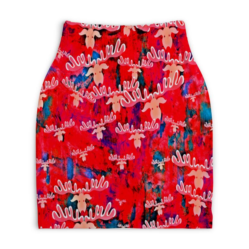 Юбка-карандаш укороченная Printio Олени юбка карандаш укороченная printio кодировка