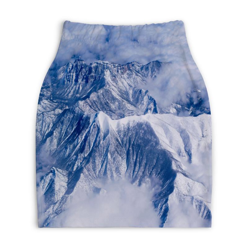 Юбка-карандаш укороченная Printio Снежные горы
