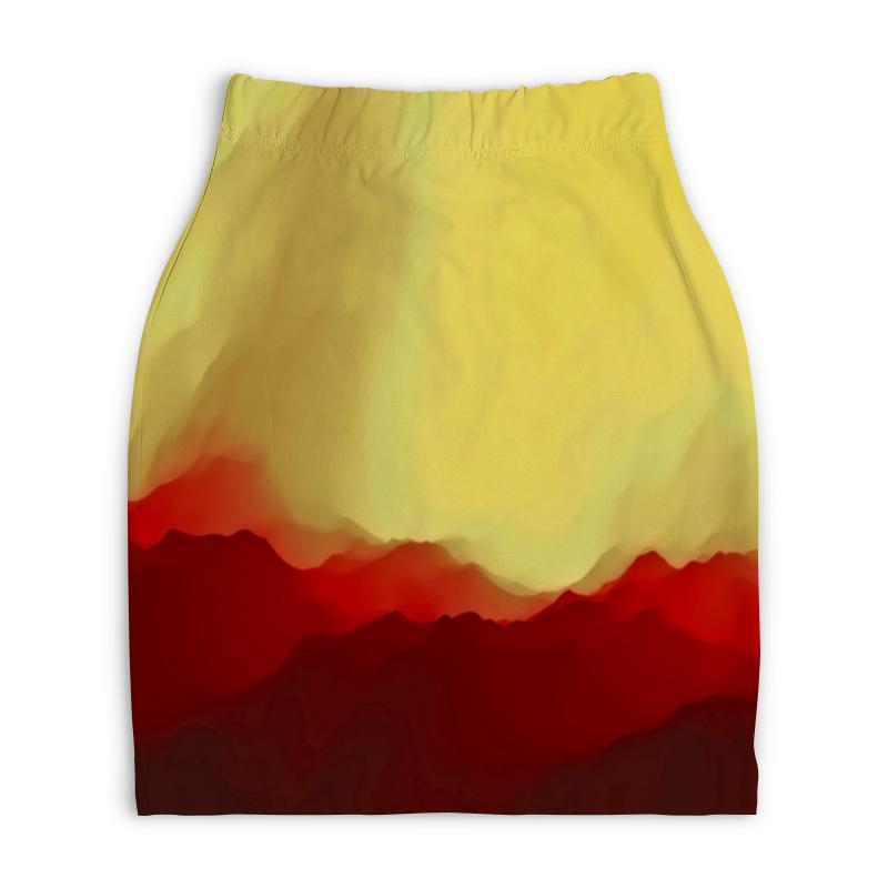 Юбка-карандаш укороченная Printio Необычные краски printio юбка карандаш укороченная