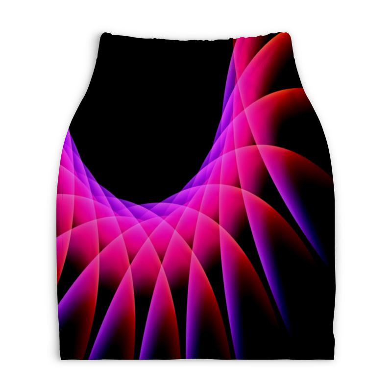 Юбка-карандаш укороченная Printio Узор красок юбка карандаш укороченная printio смесь красок