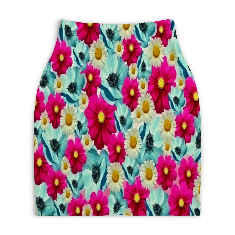 Юбка-карандаш укороченная Printio Цветочный сад юбка карандаш printio райский сад