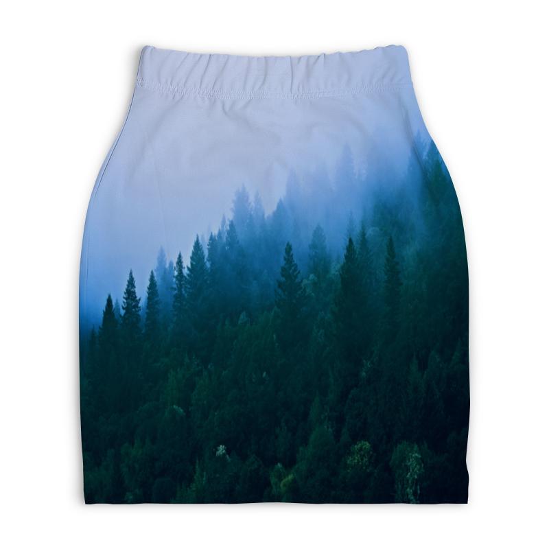 Юбка-карандаш укороченная Printio Лесной пейзаж printio юбка карандаш укороченная