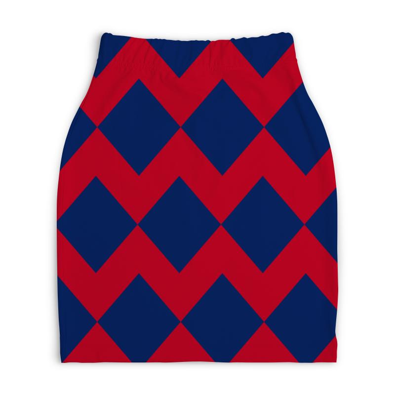 Юбка-карандаш укороченная Printio Цветные ромбы юбка карандаш printio цветные волны