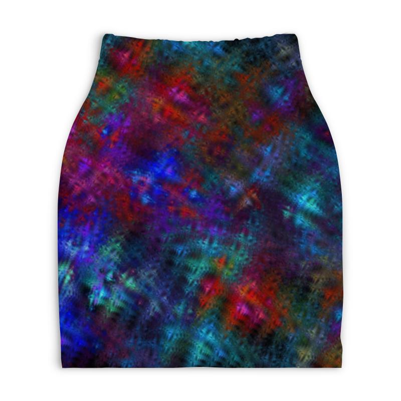Юбка-карандаш укороченная Printio Абстрактный дизайн юбка карандаш укороченная printio живопись