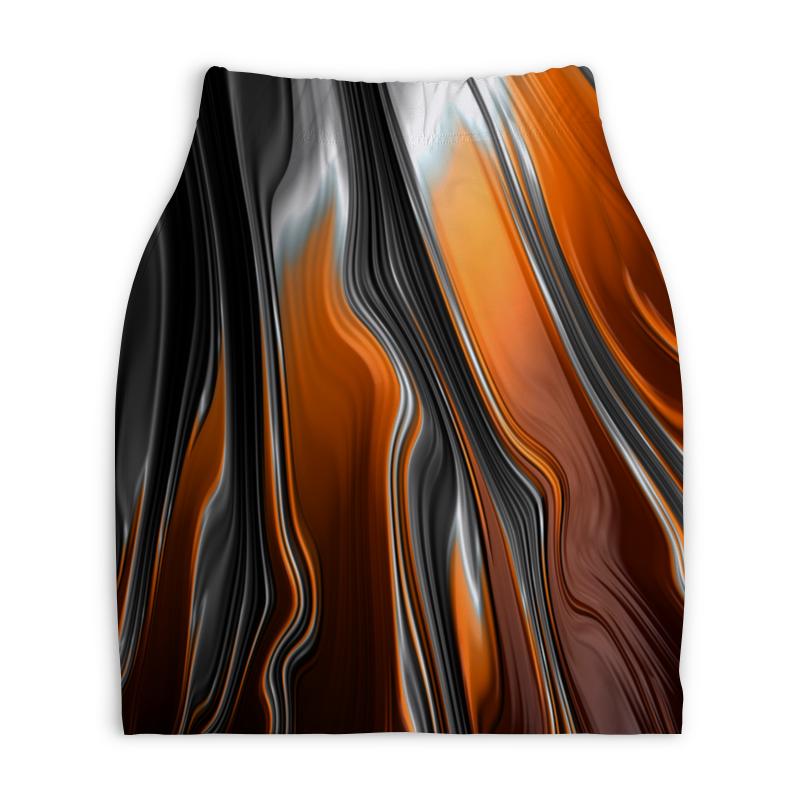 Юбка-карандаш укороченная Printio Полосы красок юбка карандаш укороченная printio смесь красок