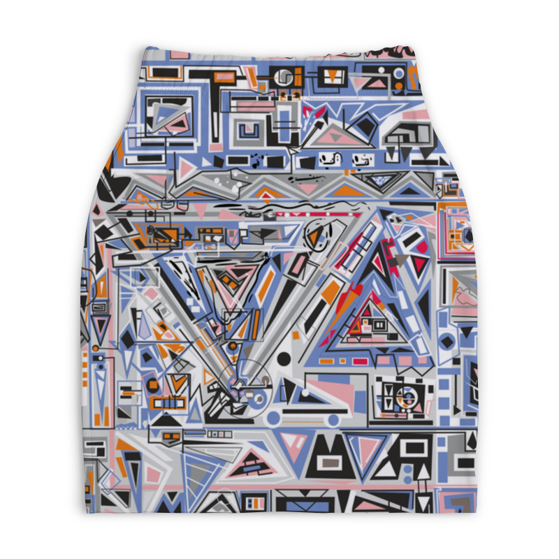 Юбка-карандаш укороченная Printio Ташизм юбка карандаш printio химия