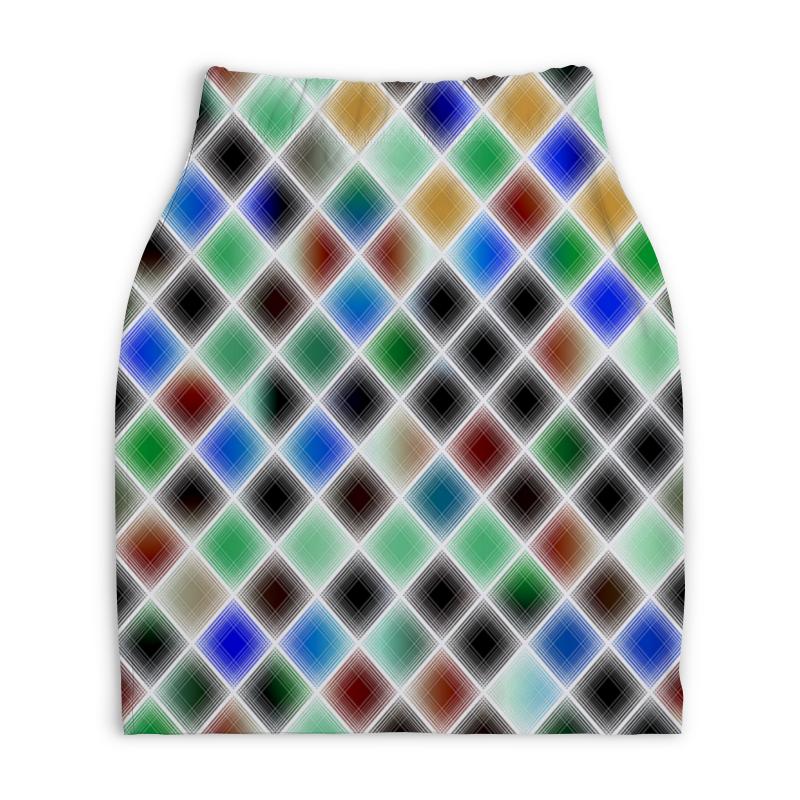 Юбка-карандаш укороченная Printio Квадрат printio юбка карандаш укороченная