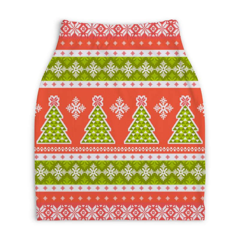 Юбка-карандаш укороченная Printio Новогодний орнамент юбка карандаш укороченная printio новогодний орнамент