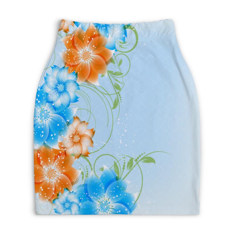 Юбка-карандаш укороченная Printio Цветок printio юбка карандаш укороченная