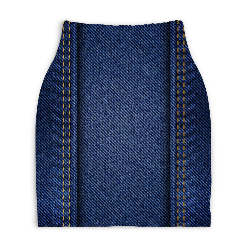 Юбка-карандаш укороченная Printio Джинсовая юбка джинсовая marks