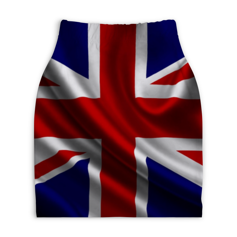 Юбка-карандаш укороченная Printio Британский флаг юбка карандаш printio london