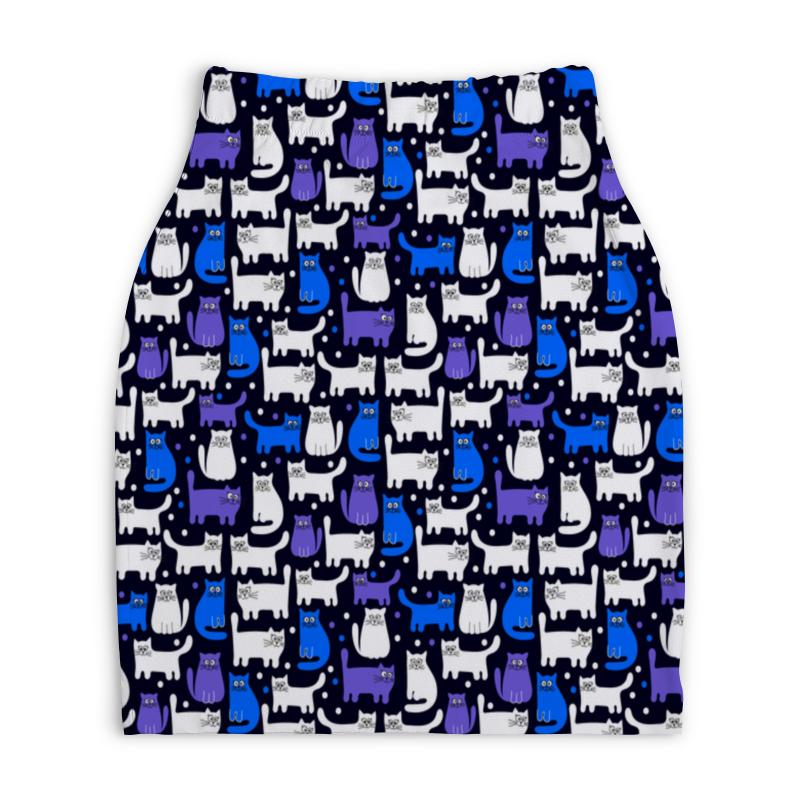 Юбка-карандаш укороченная Printio Котятушки юбка карандаш printio химия