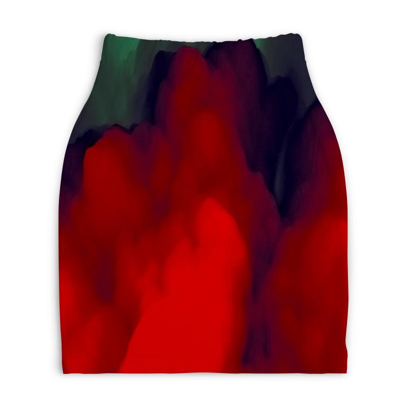 Юбка-карандаш укороченная Printio Абстрактные краски printio юбка карандаш укороченная