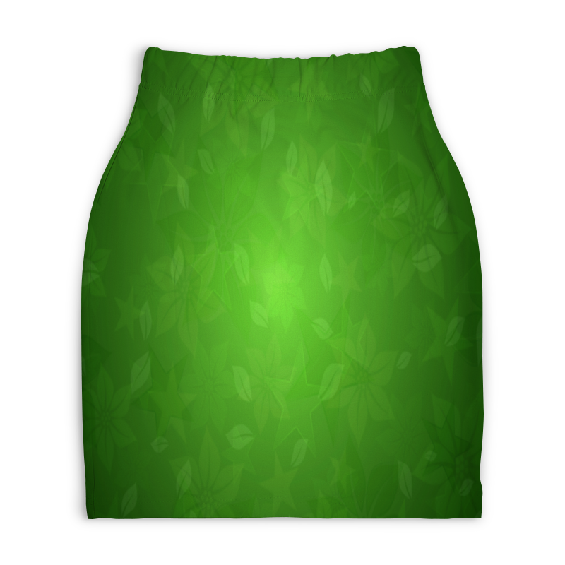Юбка-карандаш укороченная Printio Зелень printio юбка карандаш укороченная