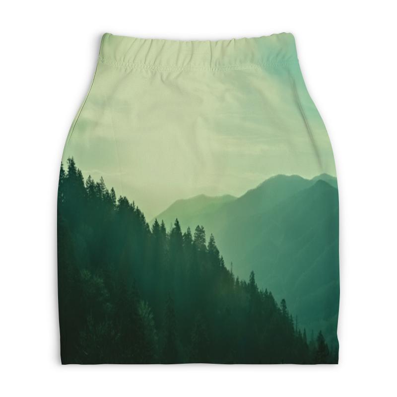 Юбка-карандаш укороченная Printio Пейзаж юбка карандаш укороченная printio осенний пейзаж