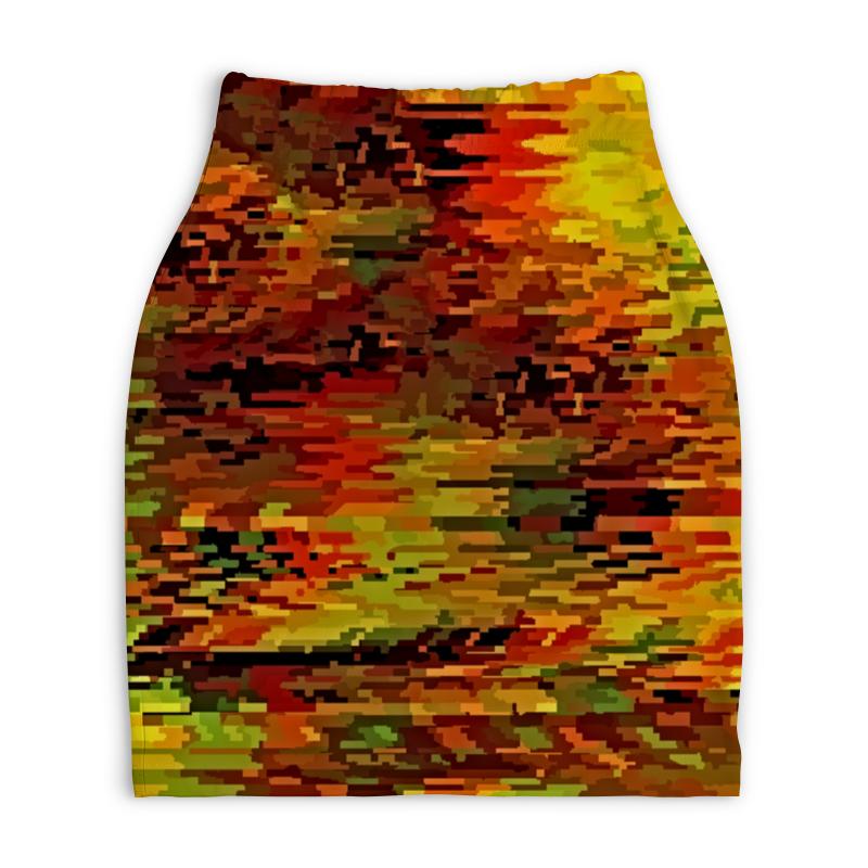 Юбка-карандаш укороченная Printio Краски осени printio юбка карандаш укороченная