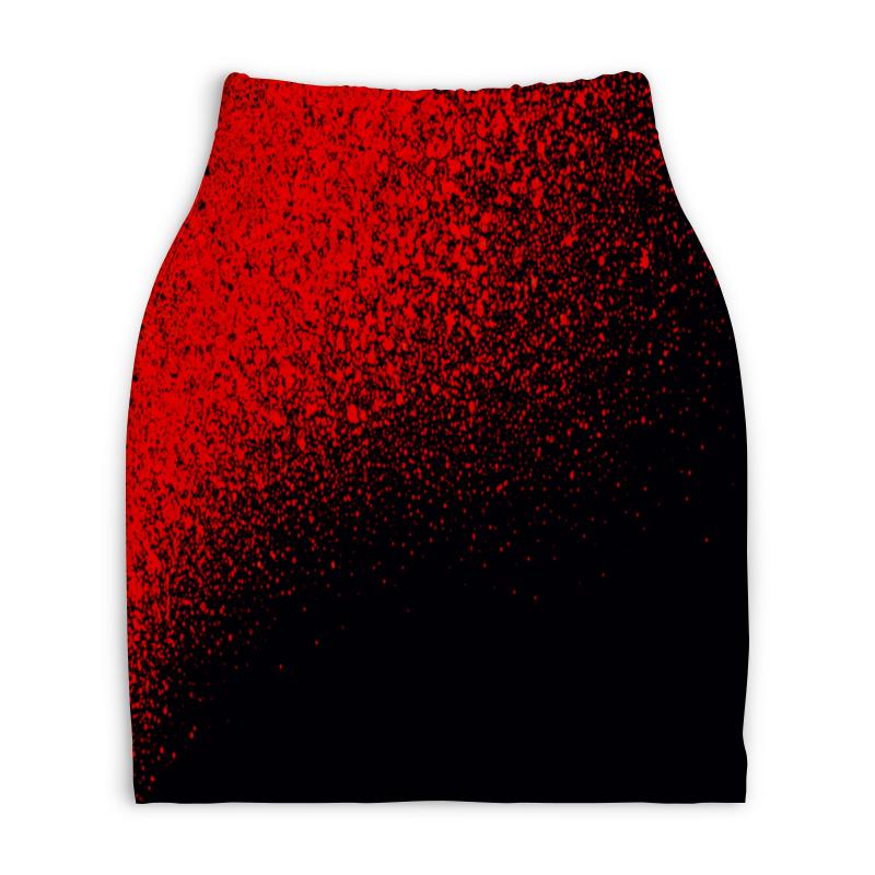 Юбка-карандаш укороченная Printio Брызги красок юбка карандаш укороченная printio смесь красок