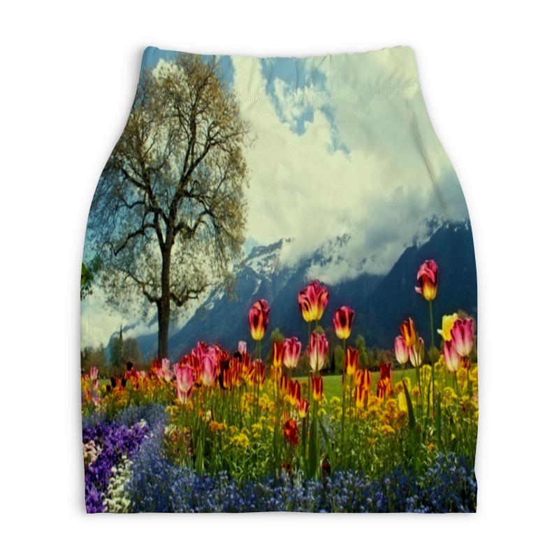 Юбка-карандаш укороченная Printio Горный пейзаж юбка карандаш укороченная printio осенний пейзаж
