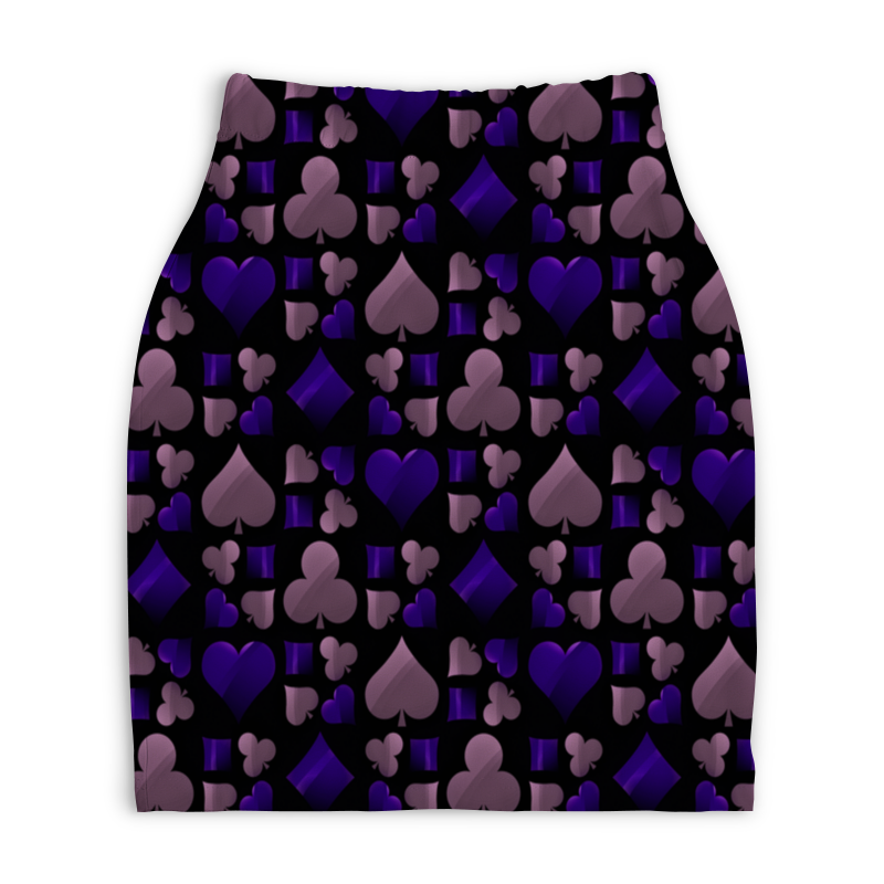 Юбка-карандаш укороченная Printio Покер юбка карандаш укороченная printio букеты роз