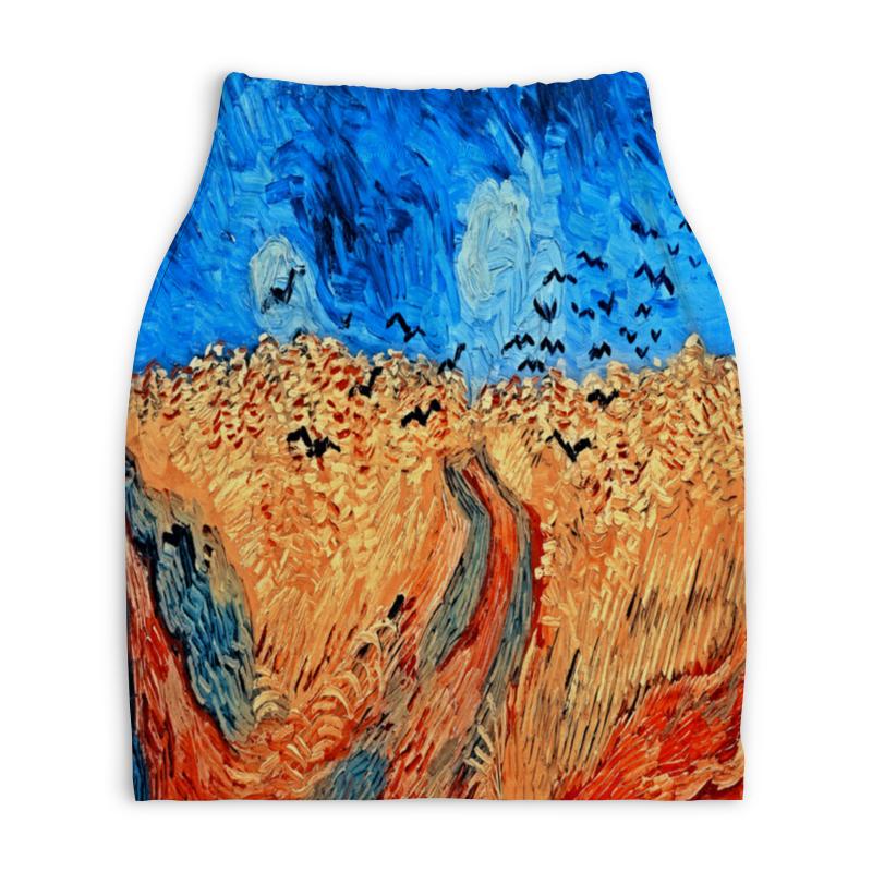 Юбка-карандаш укороченная Printio Живопись юбка карандаш укороченная printio живопись