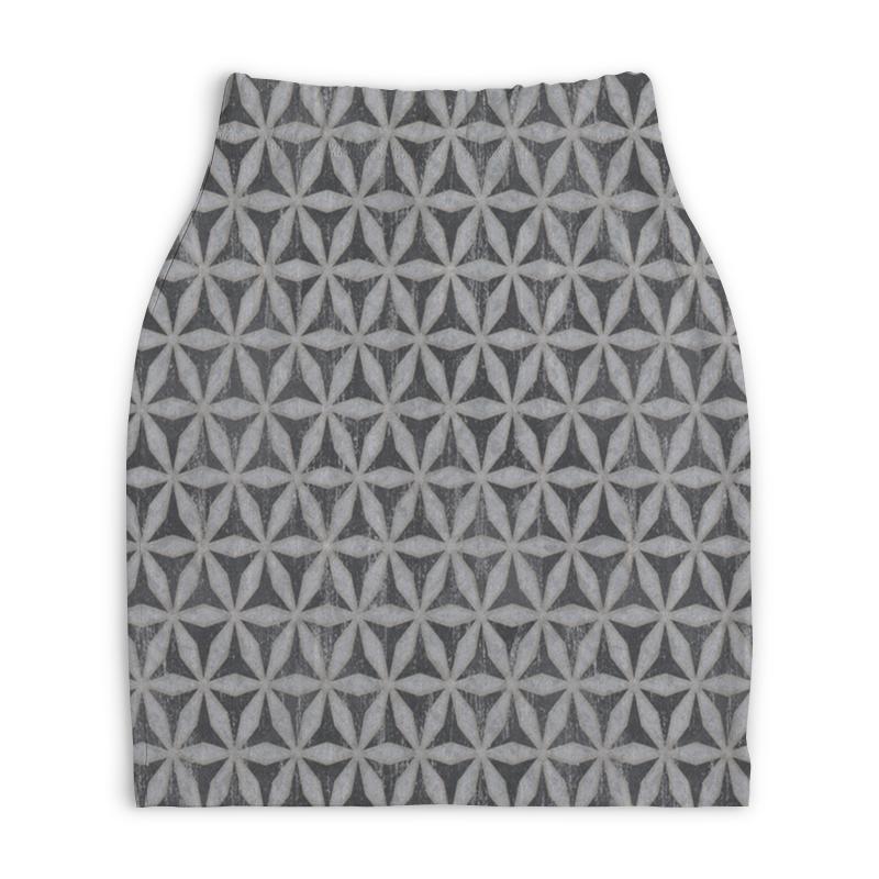 Юбка-карандаш укороченная Printio Цветы юбка карандаш укороченная printio ван гог