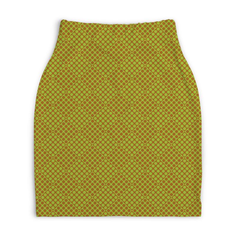 Юбка-карандаш укороченная Printio Горох в квадрате юбка карандаш укороченная printio белый горох