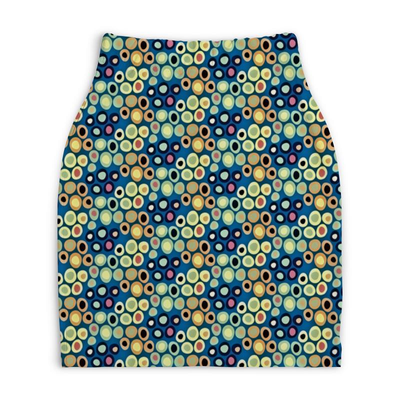 Юбка-карандаш укороченная Printio Цветные круги юбка карандаш printio цветные волны