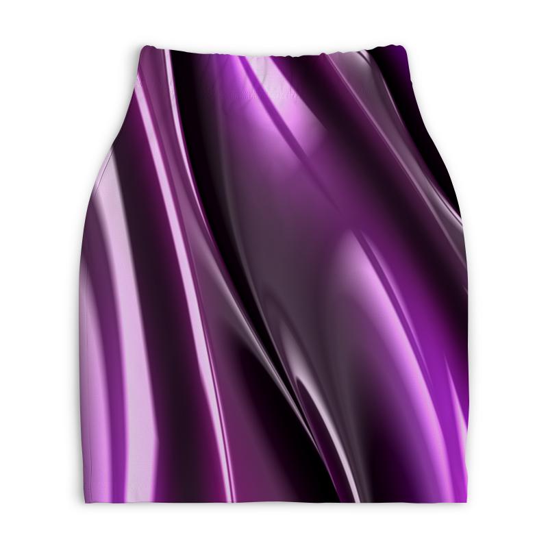 Юбка-карандаш укороченная Printio Фиолетовые линии