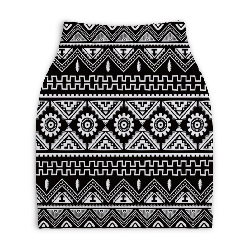 Юбка-карандаш укороченная Printio Черно-белая графика юбка белая ido ут 00015983