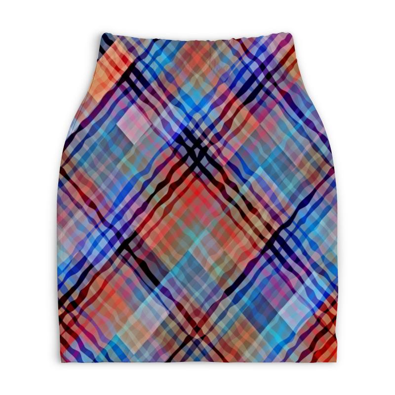 Юбка-карандаш укороченная Printio Цветные волны юбка карандаш printio цветные волны