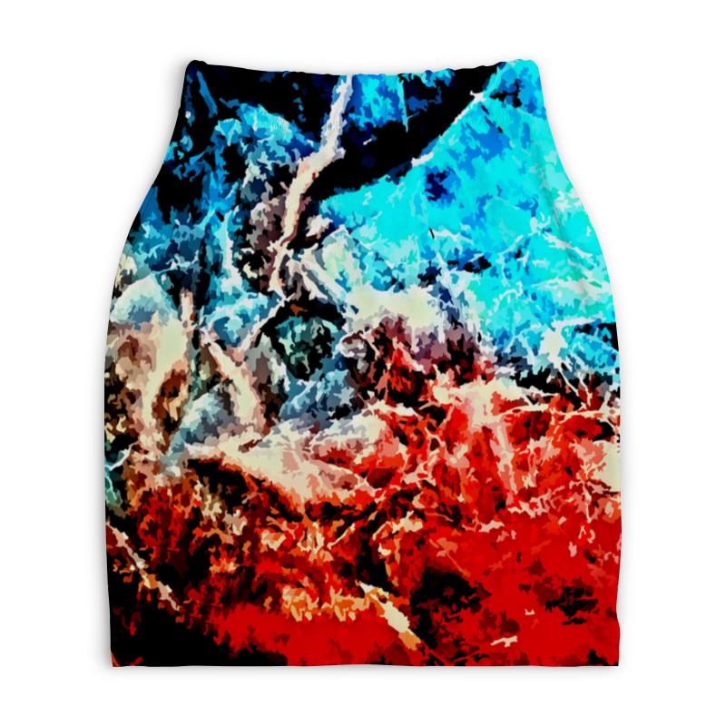 Юбка-карандаш укороченная Printio Лед и пламя юбка карандаш printio пламя