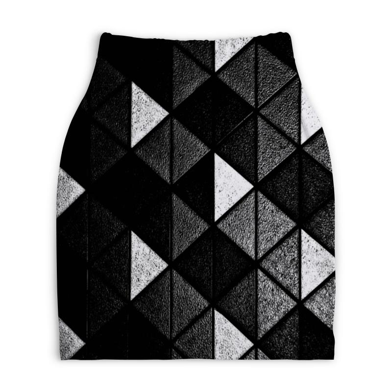 Юбка-карандаш укороченная Printio Черно-белые фигуры printio юбка карандаш укороченная