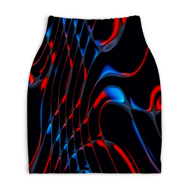 Юбка-карандаш укороченная Printio Красно-синие полосы юбка карандаш printio цветные полосы