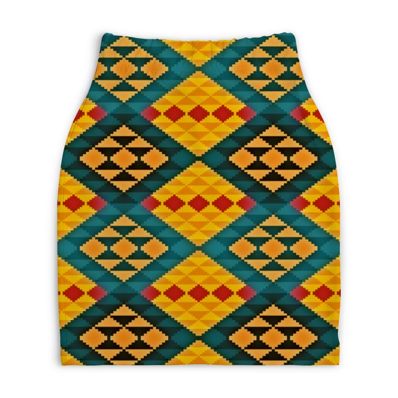 Юбка-карандаш укороченная Printio Орнамент юбка карандаш укороченная printio новогодний орнамент