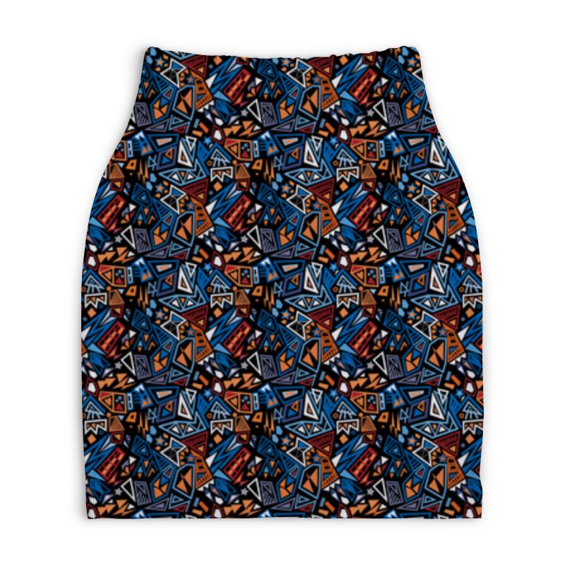 Юбка-карандаш укороченная Printio Модный и стильный геометрический паттерн платье летнее printio модный и стильный геометрический паттерн