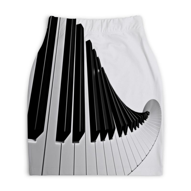 Юбка-карандаш укороченная Printio Музыка