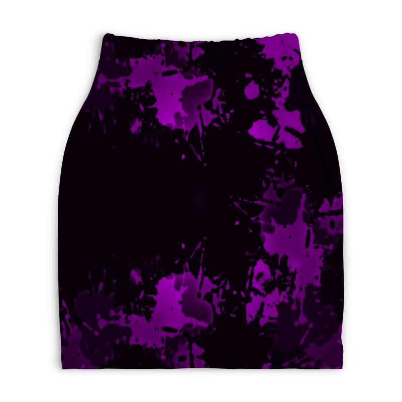 Юбка-карандаш укороченная Printio Брызги красок юбка карандаш printio london