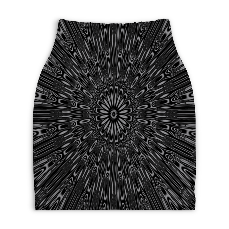Юбка-карандаш укороченная Printio Абстракция юбка карандаш укороченная printio синяя абстракция