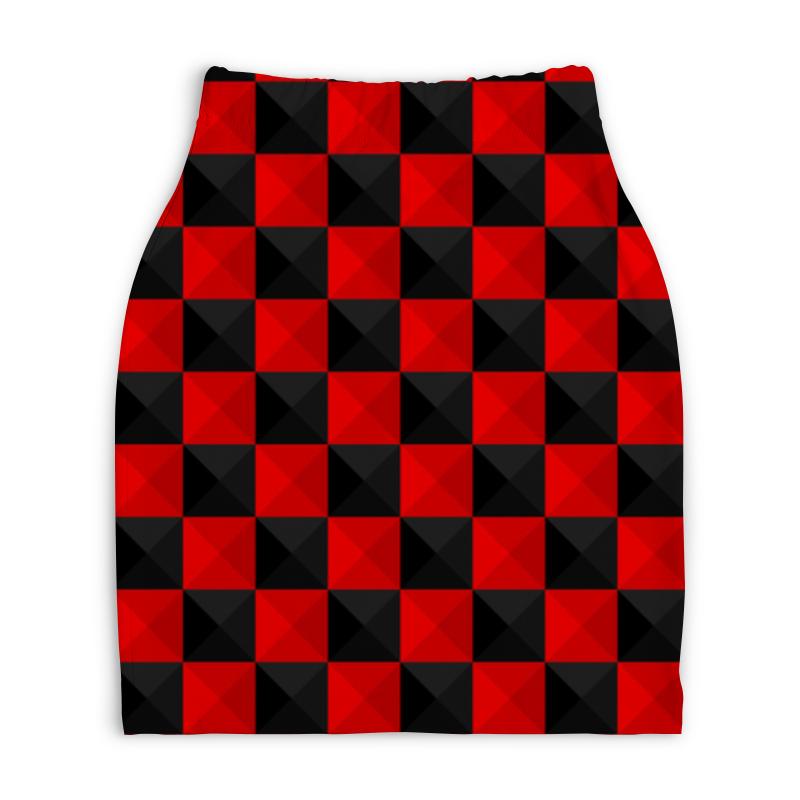 Юбка-карандаш укороченная Printio Красная и чёрная клетка постников валентин юрьевич карандаш и самоделкин