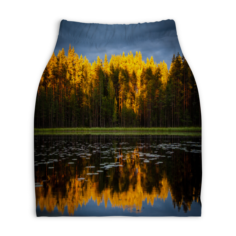 Юбка-карандаш укороченная Printio Осенний пейзаж юбка карандаш укороченная printio осенний пейзаж