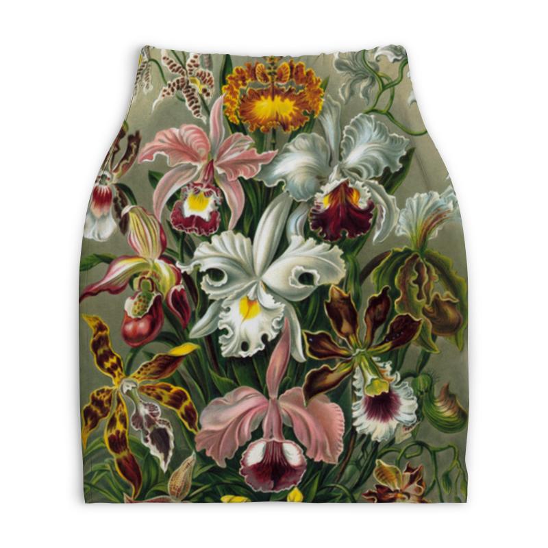 Юбка-карандаш укороченная Printio Орхидеи (orchideae, ernst haeckel) юбка в складку printio blastoidea ernst haeckel