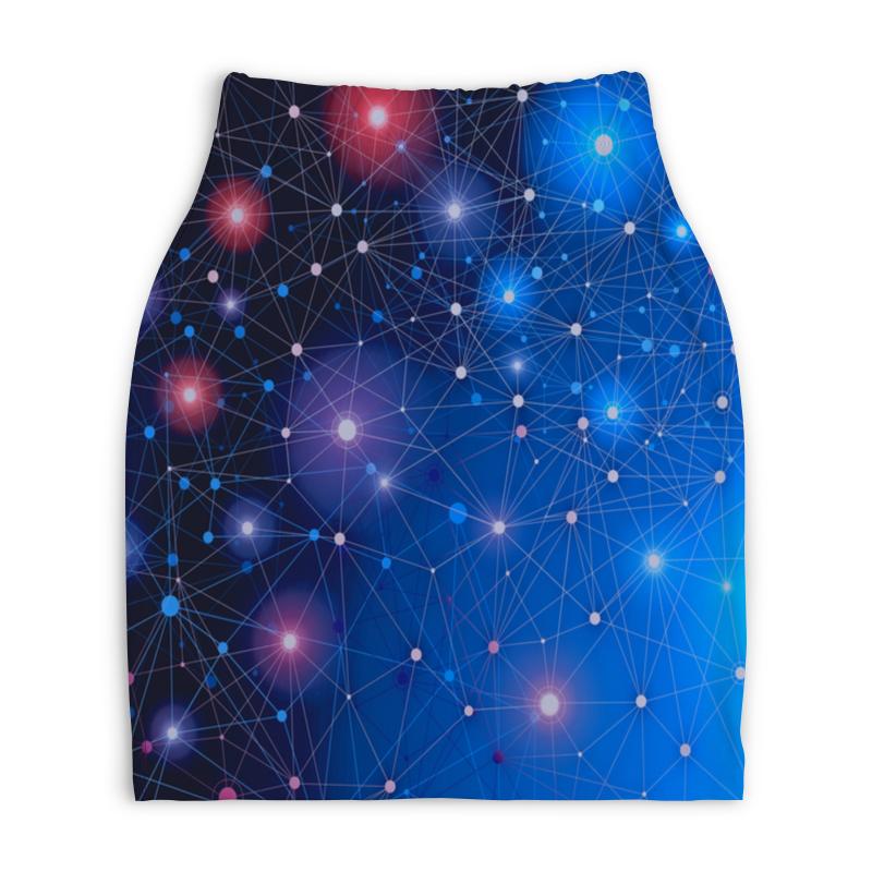 Юбка-карандаш укороченная Printio Звезды