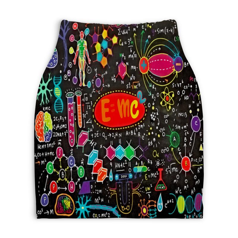 Юбка-карандаш укороченная Printio Химия юбка карандаш printio химия