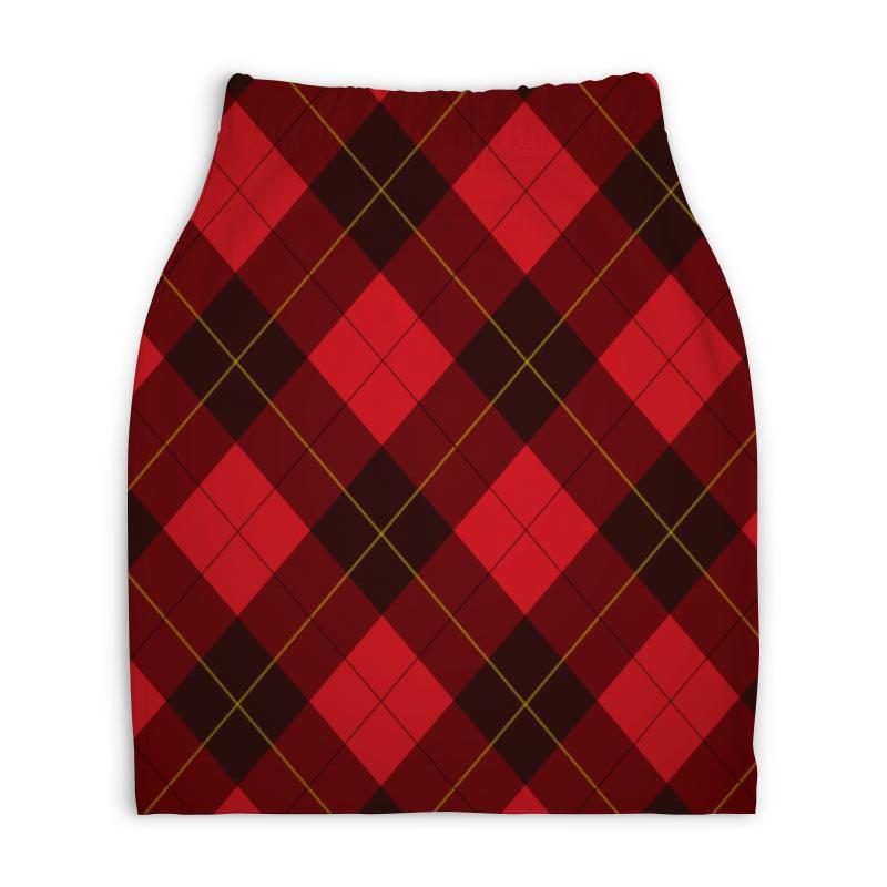 Юбка-карандаш укороченная Printio Клетчатая юбка юбка brusnika brusnika br032ewwsq30